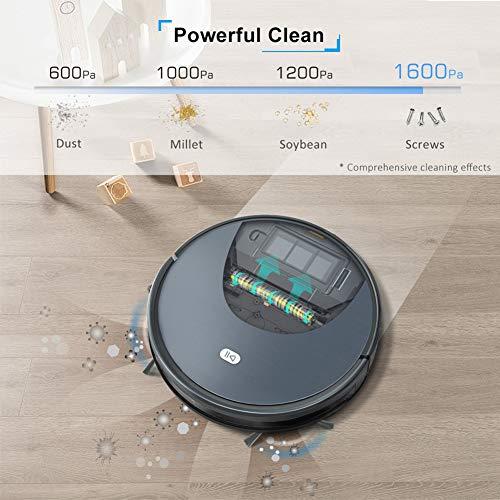 KAR Robot Aspirador de succión Poweful Pelo de Las Mascotas en casa Seca de Limpieza húmedo Robot de Limpieza automático de Carga de vacío con función APPWiFi móvil
