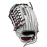 WILSON Sporting Goods 2019A200041Z Kr Superskin 31,8cm Heimspiele Fastpitch Glove–Linke Hand Überwurf schwarz/rot/weiß Superskin, 31,1cm