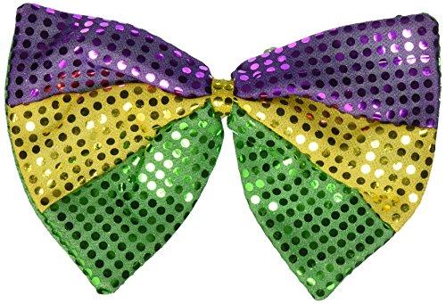 Beistle 60733 Jumbo Mardi Gras Glitz 'N Gleam Bow Tie, 81/2-Inch by 11-1/2-Inch