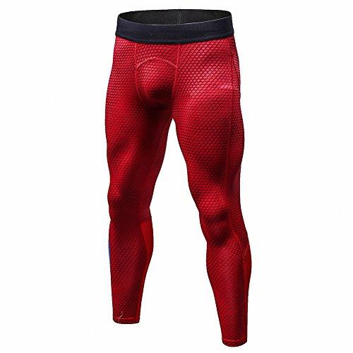Bmeigo Pantalones de Deportes Hombre Polainas Apretadas de Correr con Efecto de compresión y función de Secado rápido