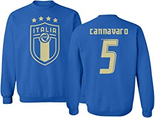 Tcamp Soccer Legends #5 Fabio CANNAVARO Jersey Style Unisex Crewneck Sweater