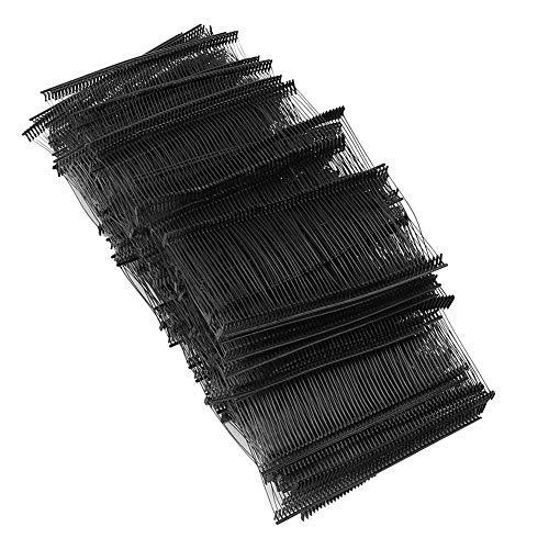 Atyhao Pistola de Etiquetas de 10000 Piezas, Ropa Ropa Etiqueta de Precio Etiqueta Etiquetado Púas Cerraduras de Bucle Pasadores de fijación para Colgar Etiquetas, Etiquetas(Negro 15mm)