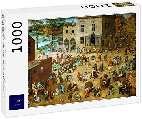 Lais Puzzle Pieter Bruegel el Viejo - Serie de Las Llamadas Pinturas de Arco, Escena: Los Juegos de los Niños 1000 Piezas