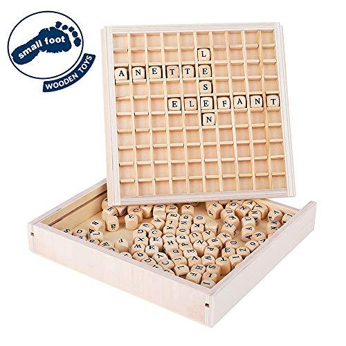 Small Foot 10952 Créer des mots Educate, en bois certifié 100% FSC, jouet éducatif pour petits écoliers jeu, Multicolore