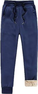 N\P Pantalones de felpa cálidos más pantalones de cachemir de los hombres con cordón deportivo pantalones largos para hombre