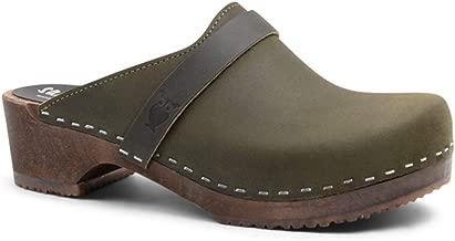 Sandgrens Swedish Low Heel Wooden Clog Mules for Women   Tokyo