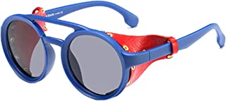 Aiweijia Women's Classic Sunglasses Fashion Small Round Plastic Frame Candy Color Design Eyewear