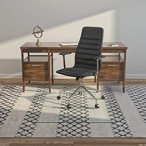 Premium Glass Office Chair Mat - Vitrazza (42' x 48') Super-Strong Hardwood and Carpet Protectors with Scratch-Resistant, Dent-Proof Surface | Chiaro - Standard Clear