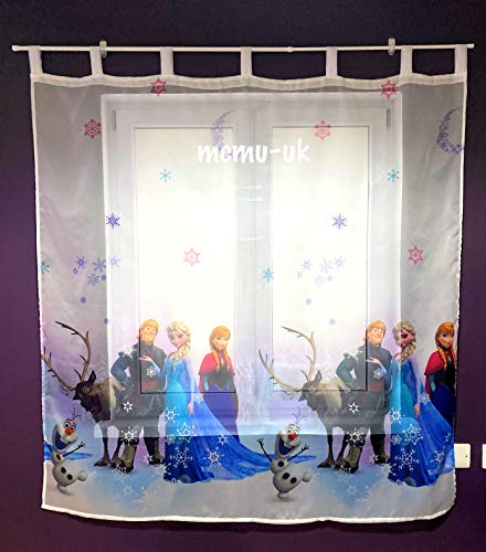 Polontex Gardinen Die Eiskönigin Frozen 3 75cmB x 147cmL Kinderzimmer Vorhang Disney