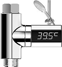 Termómetro de ducha digital Poxcap pantalla LED Termómetros de ducha de agua Monitor de hogar giratorio de 360 grados Medidor de temperatura de electricidad Autogeneración para el cuida