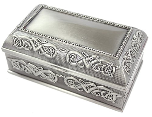 Mullingar Pewter 'Jewelry Box' With Celtic Pattern