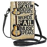 XCNGG Monedero pequeño para teléfono celular Music Guitar Cell Phone Purse Wallet for Women Girl Small Crossbody Purse Bags