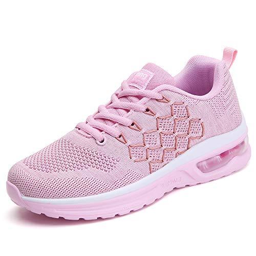 YZHYXS Herren Air Cushion Sport Trail Running Schuhe, Schwarz - 877 Rosa - Größe: 36 2/3 EU