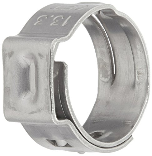 Oetiker 16700010 Stepless Ear Clamp, One Ear, 7 mm Band Width, Clamp ID Range 10.8 mm (Closed) - 13.3 mm (Open) (Pack of 50)