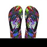 Zuyau ciabatte da spiaggia Uomo Infradito Casual Male Weiche Flip-Flops 3D-Mix-Farbe Gedruckt Men Home Slippers rutschfeste Beach Summer Flipflops -