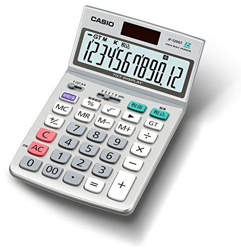 カシオ グリーン購入法適合電卓 12桁 テレワークにも活躍 ジャストタイプ JF-120GT-N
