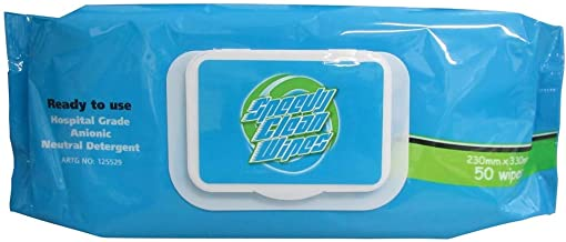 Speedy Wipes/Anionic Detergent Wipes/Pack of 50