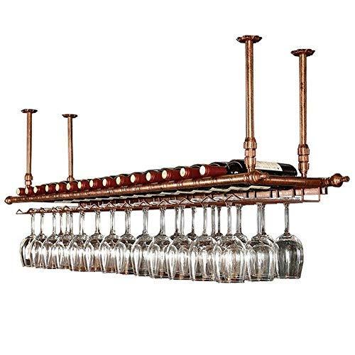 Falso techo de vino estante estante del vino estantes ajustables en altura para el vino decorativo atormenta Bar Restaurante de cocina,Bronze