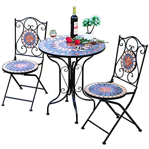 Juego de muebles de jardín de 3 piezas, mesa plegable para taberna...
