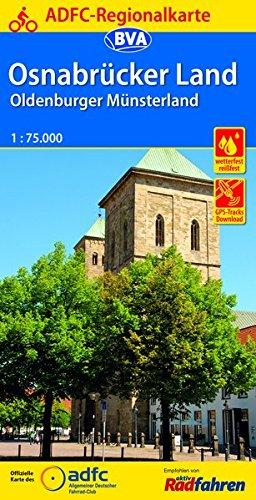 ADFC-Regionalkarte Osnabrücker Land /Oldenburger Münsterland mit Tagestouren-Vorschlägen, 1:75.000, reiß- und wetterfest, GPS-Tracks Download (ADFC-Regionalkarte 1:75000)