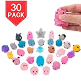 PROLOSO Squishy Fidget Toys Glitter Squeeze Animal Stress Relief 30 Pcs
