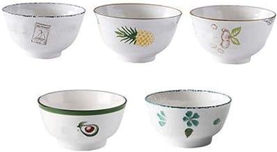 Fmdagoummzislw Salad Bowl, 6-piece Household Ceramic Rice Bowl, Rice Bowl, Small Soup Bowl, Single Porcelain Bowl, Soup 4....