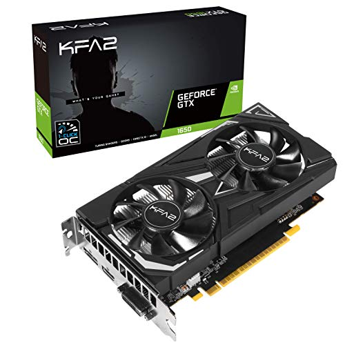 KFA2 nVidia GeForce GTX 1650 EX OC 4GB 128-bit GDDR5 PCIe Grafikkarte, 65SQH8DS08EK, schwarz