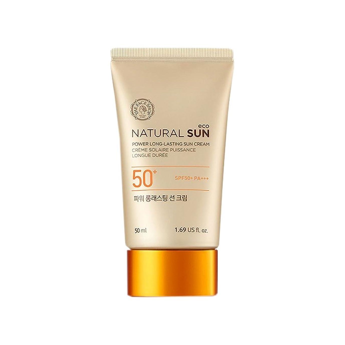 鰐雪含む[ザ?フェイスショップ] The Face Shop ナチュラルサン エコ パワー ロングラスティング サン クリーム SPF50+PA+++50ml The Face Shop Natural Sun Eco Power Long-Lasting Sun SPF50+PA+++50ml [海外直送品]