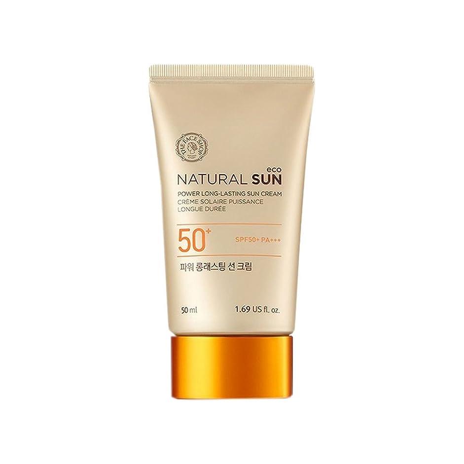 負ワイン顔料[ザ?フェイスショップ] The Face Shop ナチュラルサン エコ パワー ロングラスティング サン クリーム SPF50+PA+++50ml The Face Shop Natural Sun Eco Power Long-Lasting Sun SPF50+PA+++50ml [海外直送品]