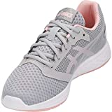 ASICS Women's Patriot 10 Running Shoes, 7.5M, MID Grey/Frosted Rose