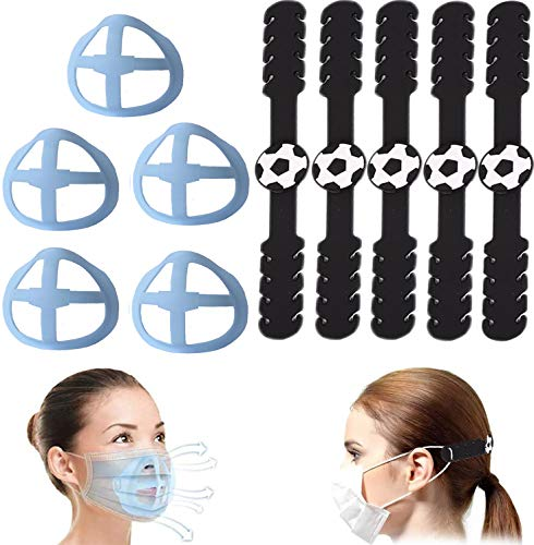 Face Cover Strap Extender, Adjustable Comfortable Anti-Tightening Holder Hook Ear Strap Accessories Ear Grips Extension Buckle for Ear Pain Release 3 Colors