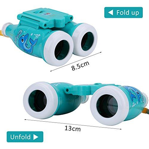 Alomejor Kinder Fernglas Spielzeug, Mini tragbar Vorschule Bildungsinspire Interesse Beobachten Teleskop, blau
