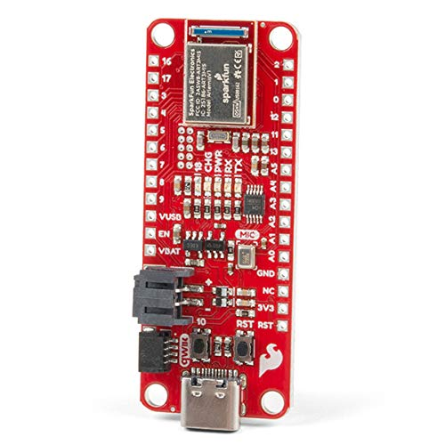 SparkFun Thing Plus – Artemis Machine Learning Development Board inkl. BLE 1MB Flash USB-C Connector Qwiic I2C MEMS LiPo Charger Program mit Arduino IDE Run TenserFlow Modellen Feather Footprint