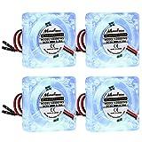 Seamuing Raspberry Pi 4 ventilador 5 V 30 mm: 4 unids DC sin escobillas ventilador LED disipador calor radiador separador conector 1 a 2 interfaz 3.3 V 5 V para Raspberry Pi 4 3B+ 3B 2B+