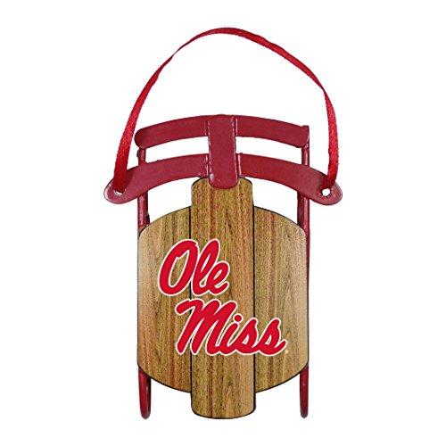 NCAA Mississippi Ole Miss Rebels Metal Sled Ornament