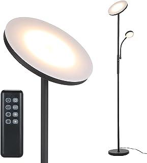 Lampadaire sur Pied Salon, Tomshine Lampadaire LED Dimmable en continu, Lampadaire Télécommande, Réglage Continu de la Tem...