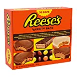REESE'S Assorted Milk Chocolate, Peanut Butter and White Crème Candy, Easter Gift, 44.1 oz Variety Pack (30)