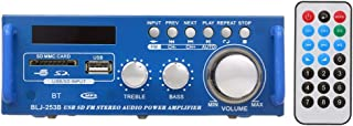 Gecheer 12V / 220V Mini Audio Power Amplifier BT Digital Audio Receiver AMP USB SD Slot MP3 Player FM Radio LCD Display wi...