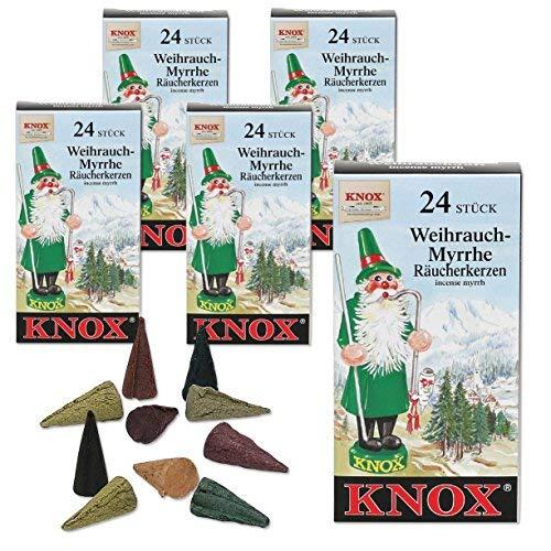 Knox 5 Päckchen Räucherkerzen - Weihrauch-Myrrhe