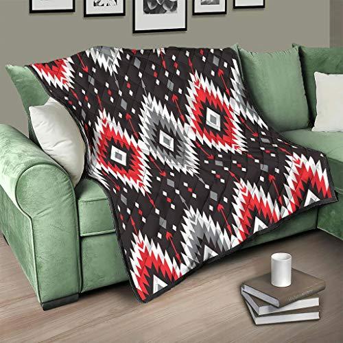 AXGM Colcha de algodón de Egipto con estampado indio, suave, cálida, para salón, color blanco, 200 x 230 cm