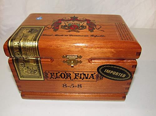 Arturo Fuente Premium Wood Cigar Box Empty Case for Crafts Guitars (Flora Fina 8-5-8)