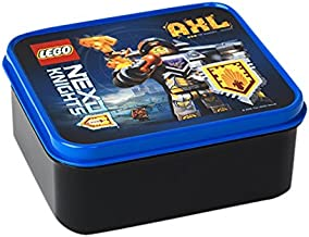 Azul Caja de Almacenamiento port/átil LEGO 4051 Almuerzo con asa Nexo Knights 15.9 x 17.3 x 9.7 cm