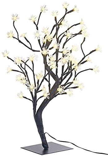 Lunartec LED Baum klein: LED-Baum mit 64 beleuchteten Blüten, 45 cm, IP44, für innen & außen (LED Bäumchen klein)