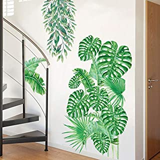 Holly LifePro Art Murals Tropical Nature Palm Tree Leaf Plants Green Leaves for Bedroom Living Room Classroom Offices Home...