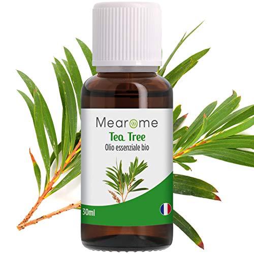 Olio Essenziale di Tea Tree • 100% Puro, Naturale e Vegano • Olio Essenziale per Aromaterapia, per Massaggi, per Diffusori • Certificato OEBBD, OECT e Agricoltura Biologica • 30 Ml Mearome