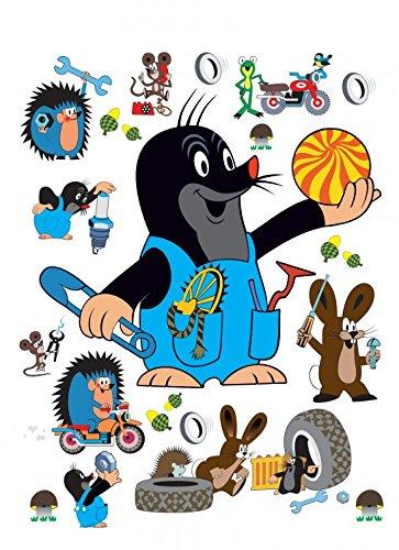 1art1 Taupek La Petite Taupe Sticker Adhésif Mural Autocollant - Rabbit & Hedgehog (85 x 65 cm)