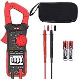 LTPAG Pinza Amperímetro Voltímetro Ohmímetro, 3999 Cuentas Multímetro Digital Automático, True...