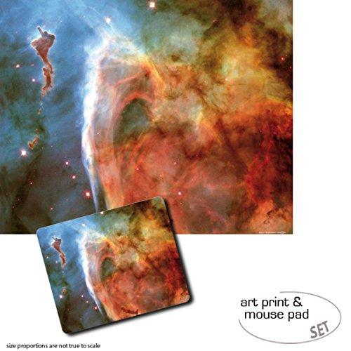 1art1 Der Weltraum, Schlüssellochnebel Im Sternbild Carina 1 Poster Kunstdruck (50x40 cm) + 1 Mauspad (23x19 cm) Geschenkset