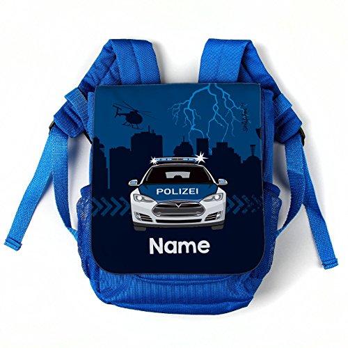 Striefchen® Kinderrucksack mit Namensaufdruck - Motiv: Polizei