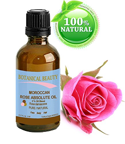 Botanical Beauty MOROCCAN ROSE ABSOLUTE Pure / Natural 3% Oil Blend. 0.17Fl...